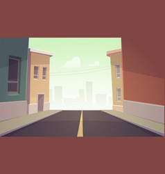 City road vector