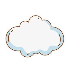 cloud cute cartoon vector image