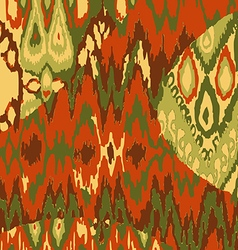 Colored ethnic print pattern abstract background vector