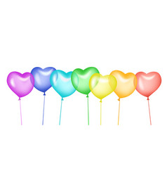 colorful balloons in shape of a heart vector image