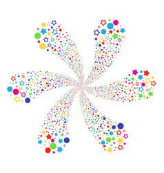 confetti stars cyclonic bang vector image