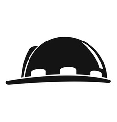 construction protect helmet icon simple style vector image