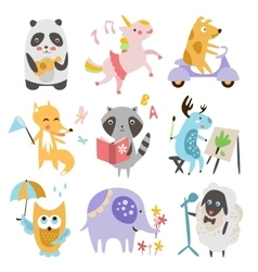 Cute Childish Animals Set vector