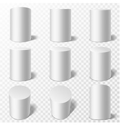 cylinders realistic round podiums in different vector image