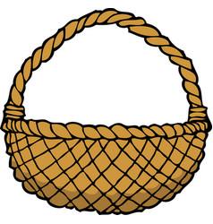 Doodle wicker basket vector
