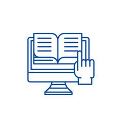 Ebooks line icon concept ebooks flat vector