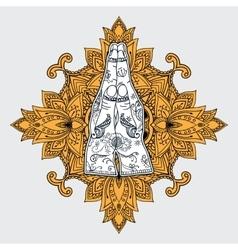 Elegant Ornaments Lace Mandala vector image