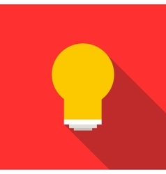 Energy saving light bulb icon flat style vector image