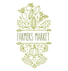 Farmers Market Sign vector
