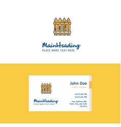 Flat boundary logo and visiting card template vector