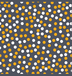 gold and white circles on grey background seamless vector image