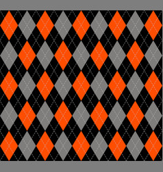 halloween argyle plaid scottish cage background vector image