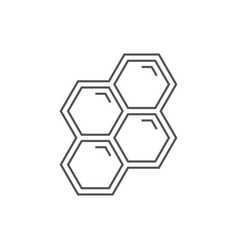 honeycombs line icon on white background vector image