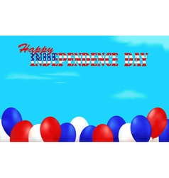 Independence Day background decorated with vector image vector image