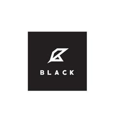initial letter b black sharp logo design vector image