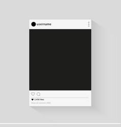 Instagram social network photo frame vector