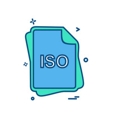 iso file type icon design vector image