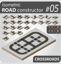isometric road constructor - 05 vector image