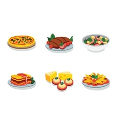 Italian food flat icon vector