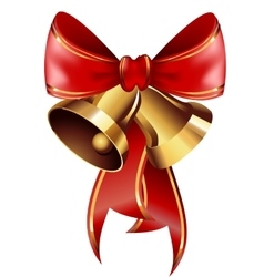 Jingle bells with red bow vector image