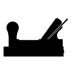 jointer plane with wood icon black color vector image