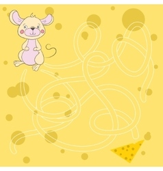 Layout for game labyrinth find a way mouse vector image