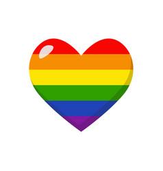 lgbtq rainbow heart vector image