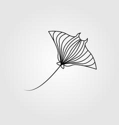 line art stingray design line art manta vector image