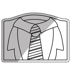 Necktie male fashion vector image