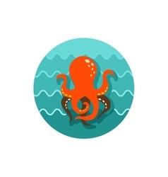 Octopus icon Summer Vacation vector
