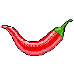 pixel chili pepper detailed isolated vector image