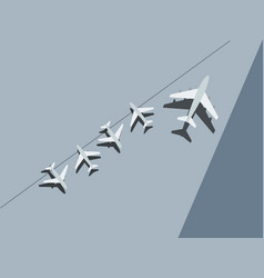 planes at airport top view vector image