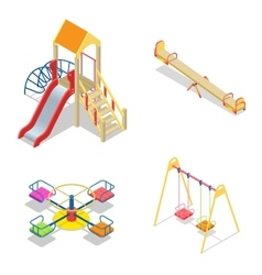 Playground Playground slide theme elements vector