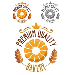 Premium Bakery badge or label vector