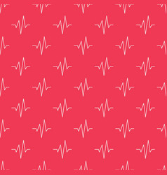 Pulse red seamless pattern vector