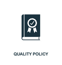 Quality policy icon symbol creative sign vector