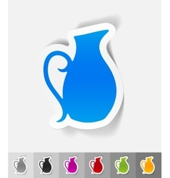realistic design element jug vector image