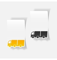 realistic design element truck vector image