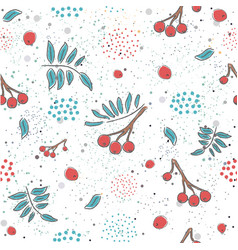 red berry christmas brier spray pattern vector image