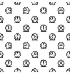 Retro kitchen timer pattern seamless vector