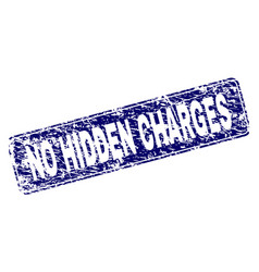 Scratched no hidden charges framed rounded vector