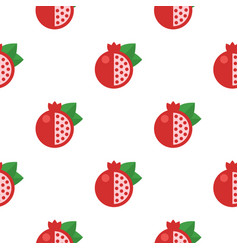 seamless pattern with pomegranates vector image vector image