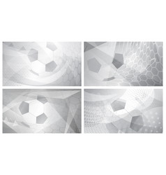 soccer backgrounds in gray colors vector image