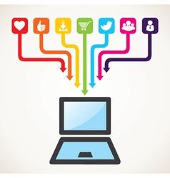 social media icon concept vector image