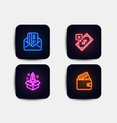 Startup rejected payment and credit card icons vector