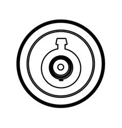 Symbol computer camera icon vector
