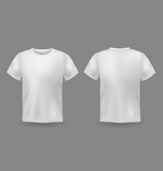 T-shirt mockup white 3d blank front vector