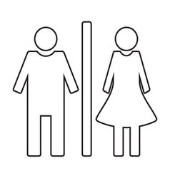 Toilet icon wc linear style vector
