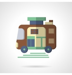 Trailer flat color icon vector image