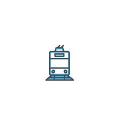 tram icon design transportation icon design vector image